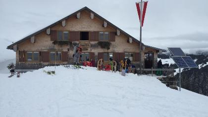 Burglhütte im Winter