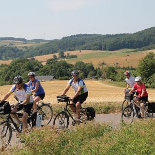 Radfahren auf dem Drei-Länder-Radweg
