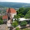 Blick auf das Kommandantenhaus Dilsberg, Neckargemünd - Dilsberg