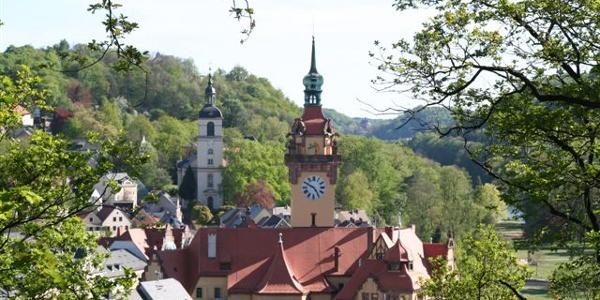 Blick vom Kreuzfelsen auf Waldheim