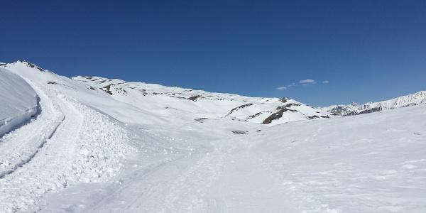 Am Rand des Skigebiets Watles