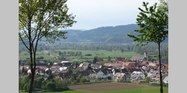 Blick vom Giersberg ins Dreisamtal