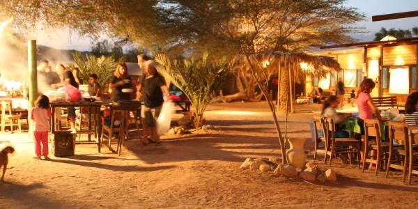 Abendstimmung in der Camplodge