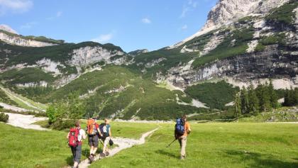 Auf dem Weg von der Reintalanger- zu Knorrhütte: Der Oberanger