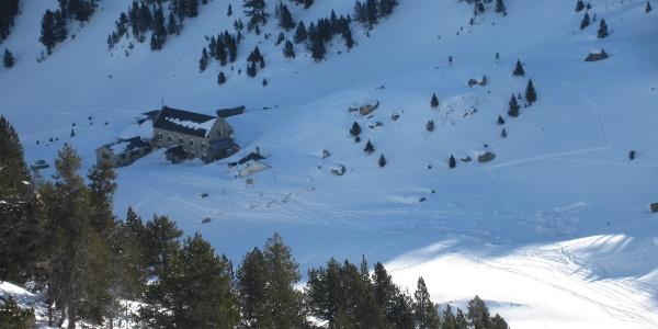 Refugio de la Renclusa von oben