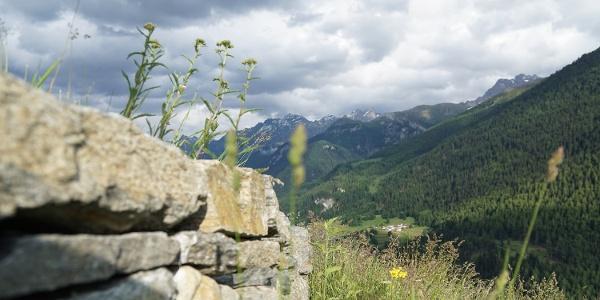 Blick von Guarda auf Sur En d'Ardez