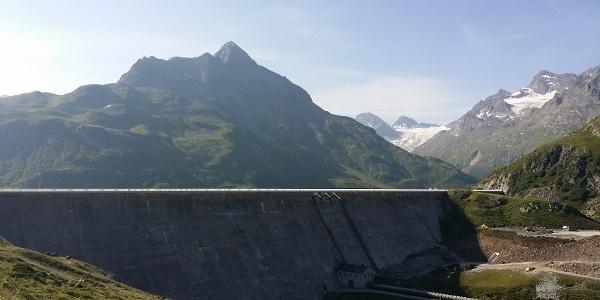 Staumauer Silvretta-Bielerhöhe