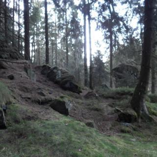 am Eggepass zwischen den beiden Velmerstot-Gipfeln