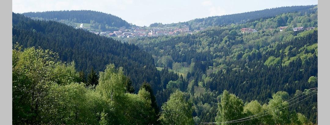 Blick von Rettenbach durch das Englmarbachtal nach St. Englmar