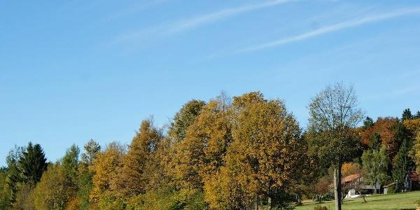Landschaft bei Hügelhof am Beginn der Tour
