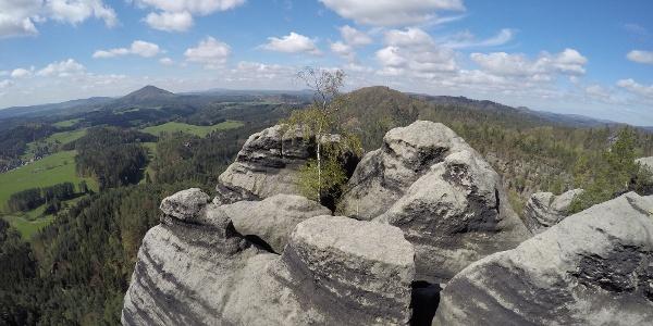 Herrlicher Blick ins sächsisch-böhmische Hinterland