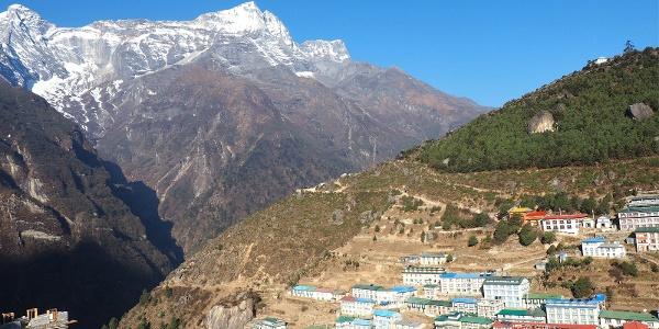 Namche Bazar von der Panorama Lodge 3500m