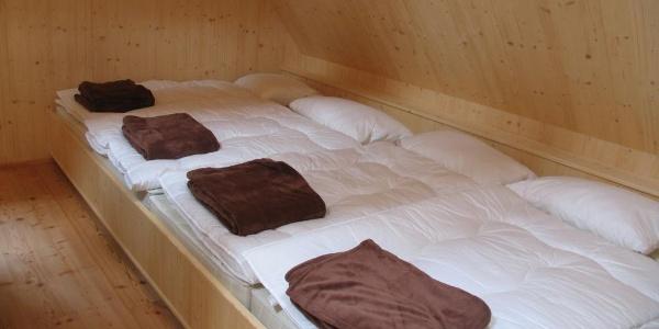 Selbstversorgerhütte - Schlafraum