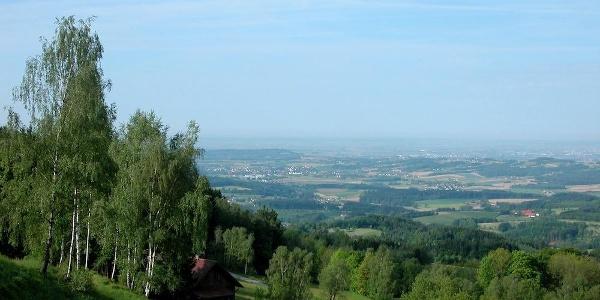 Aussicht von Herrnwies zur Donauebene