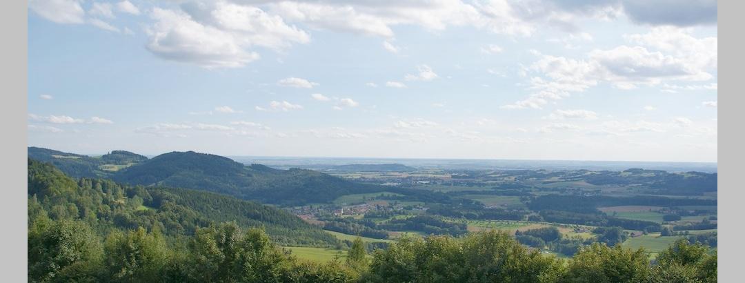 Aussicht von Hagnberg zur Donauebene