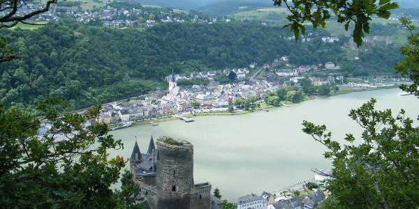 Die Burg Katz wurde von den Grafen von Katzenelnbogen erbaut.