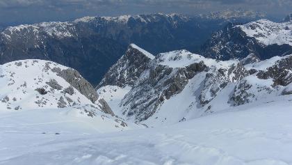 Gipfelblick ins Anstiegstal