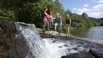Wasserstufen am Waldsee