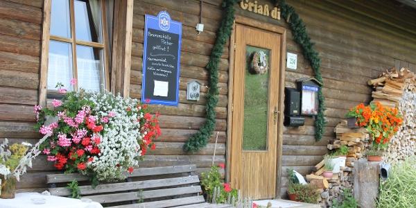 Eingang Panoramahütte