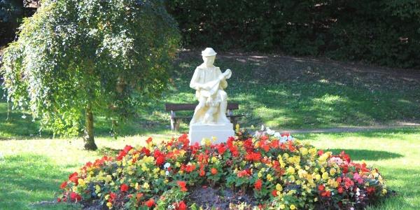 Statue im Bürgergarten Döbeln