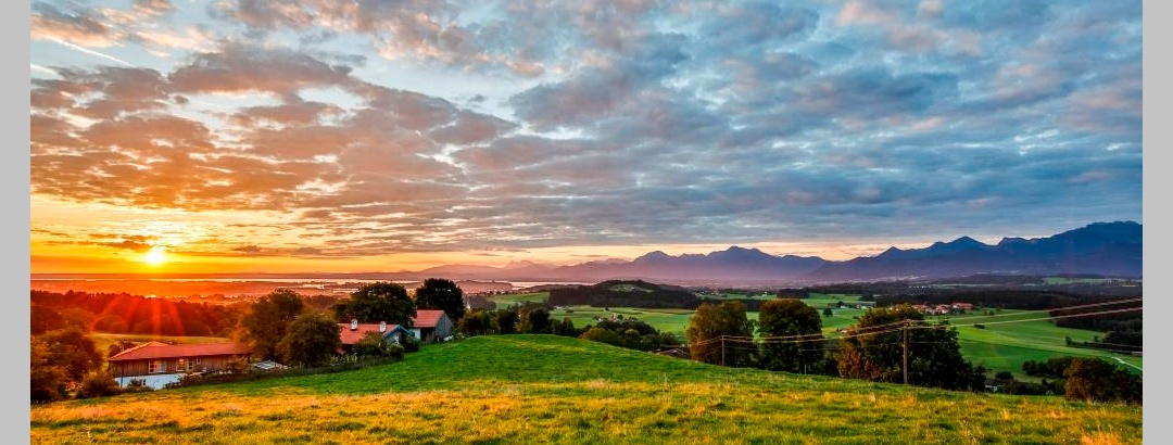 Blick ins Chiemsee-Alpenland