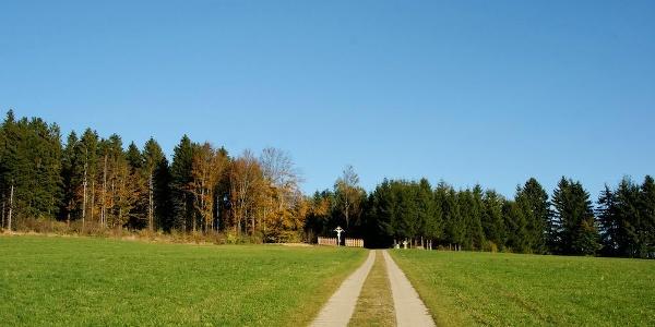 """Weg vom Ortsrand zum Aussichtspunkt """"Aug ins Land"""""""