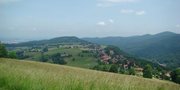 Blick über Horben nach Freiburg