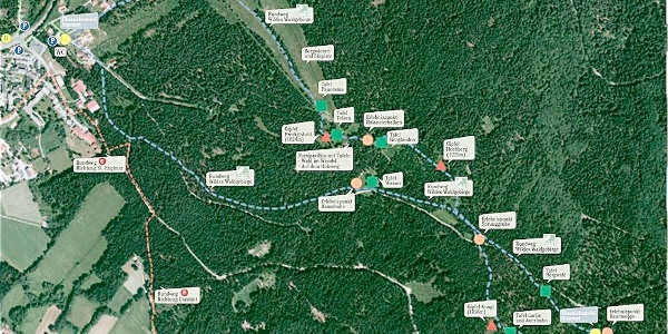 Übersichtsplan des Naturlehrpfades