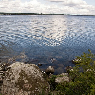 Sjön Boren vid Birgittas udde