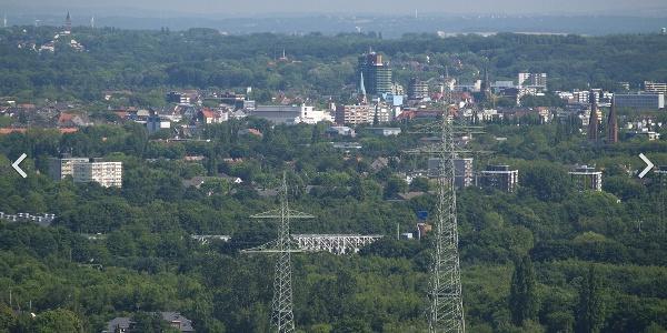 Die Herner Innenstadt von der Hohewardhalde aus gesehen