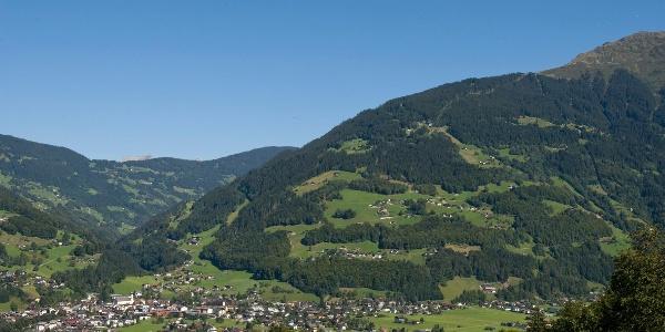 Schruns, in der Mitte des Bildes befindet sich ungefähr der Buchwaldweg