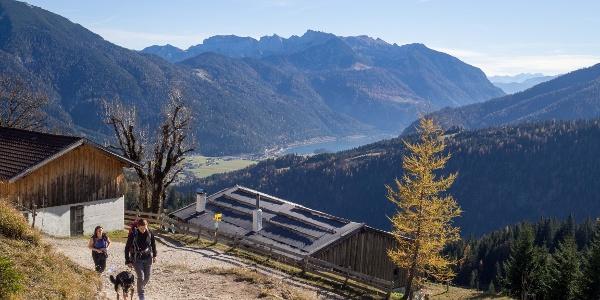 Bequemer Aufstieg zur Seewaldhütte