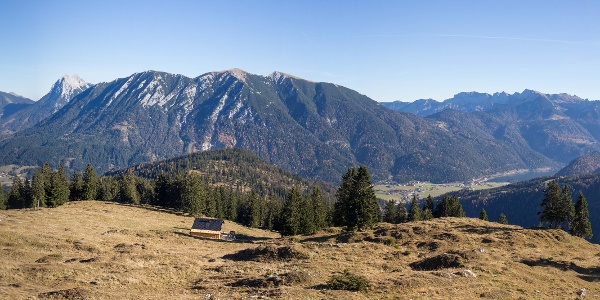 Weitblick oberhalb der Seewaldhütte