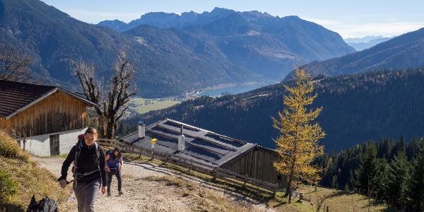 Aufstieg auf einfachen Wegen oberhalb des Achensees