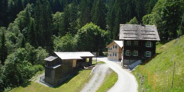 """Gafazutweg bei """"Mülli-Ferdi"""" in Latschau"""