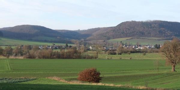 Blick auf Godelheim und rechts den Brunsberg