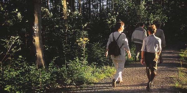 Wanderer am Hotel Eggenwirth