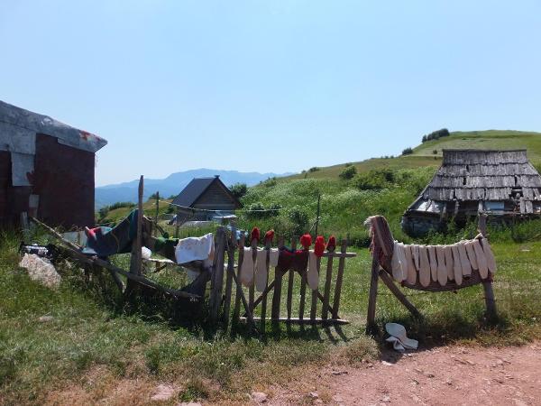 Rustic mountain village in Bosnia and Herzegovina