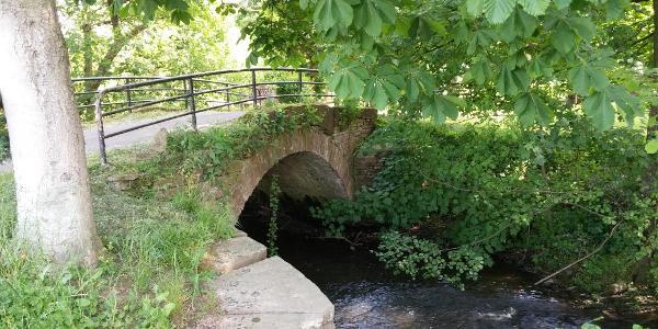 Historische Brücke an der Mühle Dietenhausen
