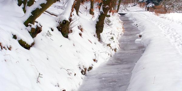 Stadtwasser im Winter
