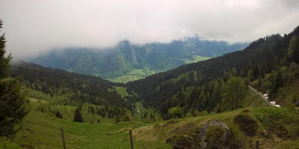 Talblick von Brandner Hochalm nach Bad Hofgastein