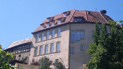 Schloss und Storch