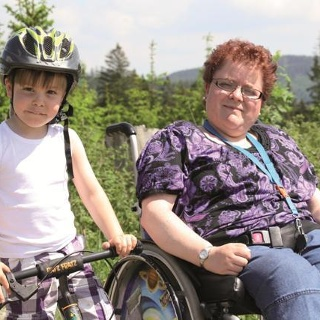 Ob Rolli oder Fahrrad auf dem Langer Berg