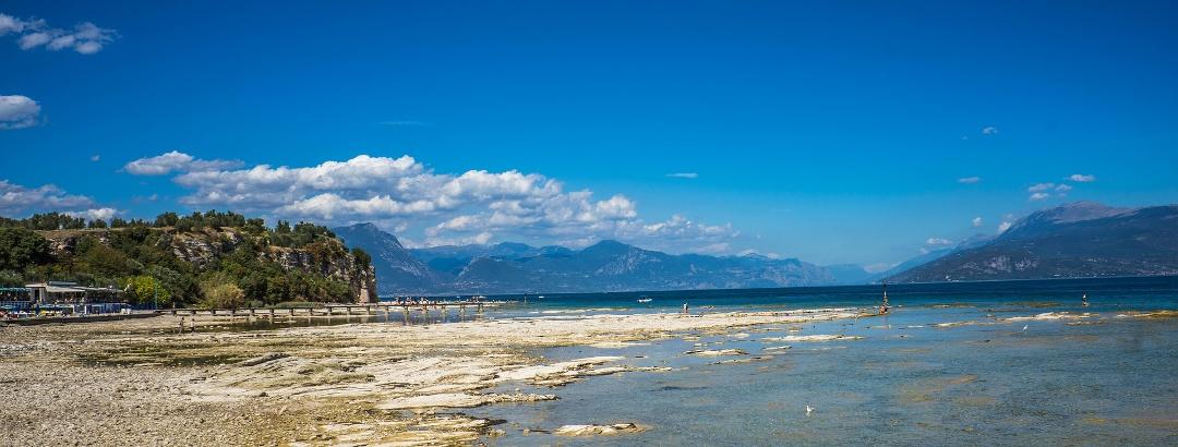 Blick auf den Gardasee von Sirmione aus