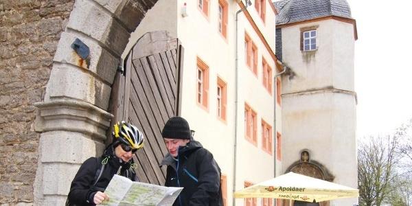 Eingang von Schloss Kromsdorf