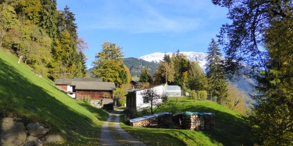 Wohnhäuser in der Nähe vom Kloster Gauenstein