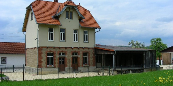Der Bahnhof in Dischingen.