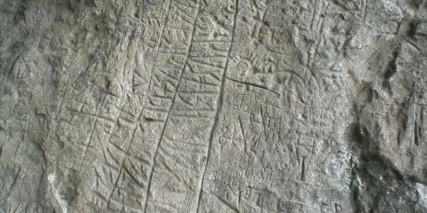 Raetische Inschriften Detail (3)