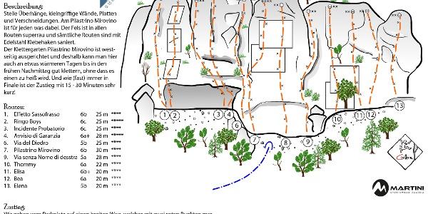 Pilastrino Mirovino - Topo vom Klettergarten bei Finale