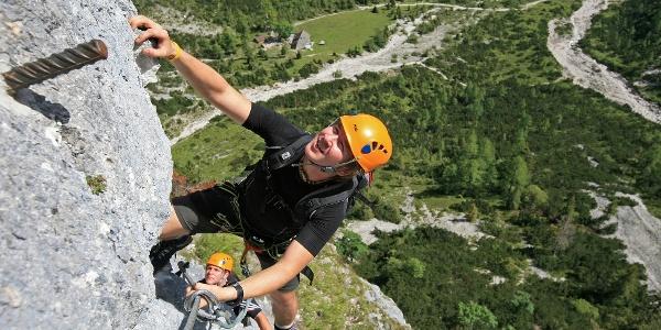 Siega Klettersteig in der Silberkarklamm